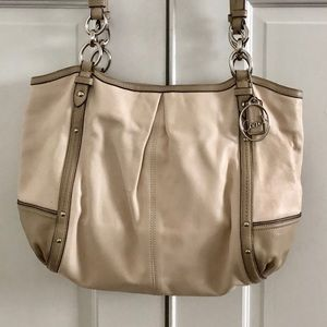 Coach Alexandra Cream Shoulder Bag